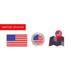 Simple flag united states america vector