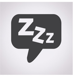 sleep icon vector image