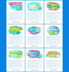 spring best offer promo labels best prices vector image
