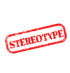 Stereotype stamp on white background vector