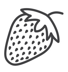 Strawberry line icon fruit and diet vector