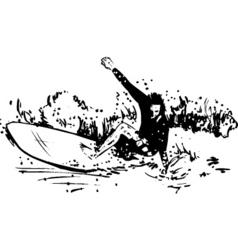 surfer long board vector image