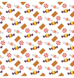 Sweet scandy and cookies seamless pattern vector