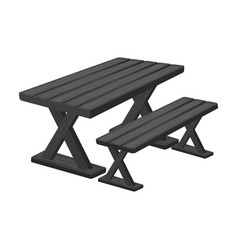 table for restbbq single icon in monochrome style vector image