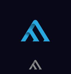 Technology symbol letter m vector