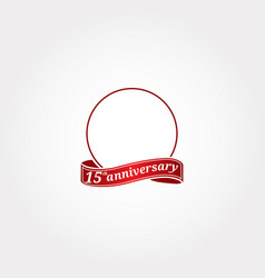 Template logo 15th anniversary with a circle and vector