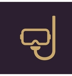 The scuba mask icon Diving symbol Flat vector image