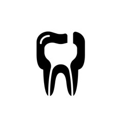 Tooth diseases periodontitis icon vector