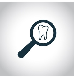 Tooth examination sign vector