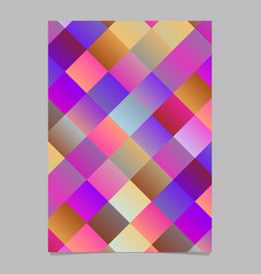 trendy modern diagonal square brochure background vector image