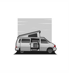 van camper vector image