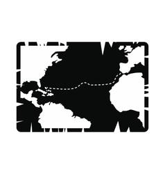 Vintage map icon vector image