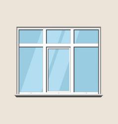 Window classic plastic glass construction build vector