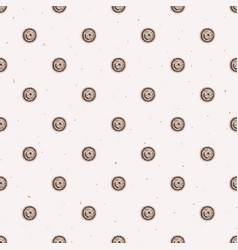 winter rustic polka dots lino cut texture seamless vector image