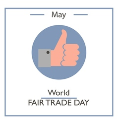 World Fair Trade Day vector image