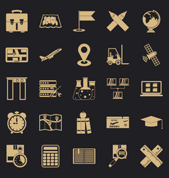 World globalization icons set simple style vector