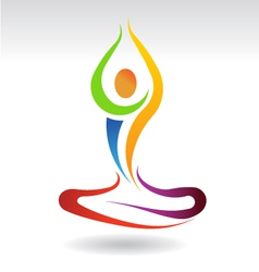 Yoga Mental Peace Logo vector image