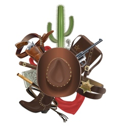 Cowboy Concept with Hat vector image vector image
