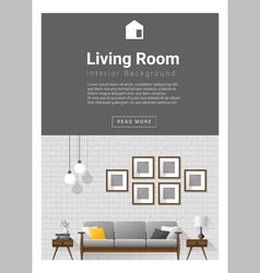 Interior design Modern living room banner 1 vector image vector image