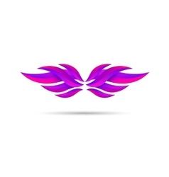 Wings emblem vector image vector image