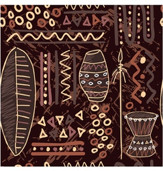 African seamless tile vector