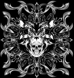 Bear skull pattern vector
