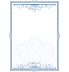 classic guilloche border for diploma or certificat vector image vector image