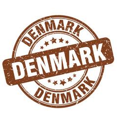 Denmark brown grunge round vintage rubber stamp vector