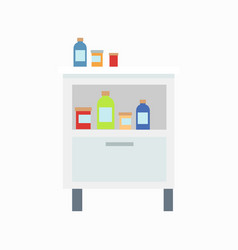 locker with drugs icon vector image