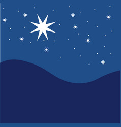 star night sky festive pattern great for winter or vector image