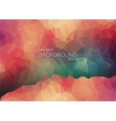 Abstract 2d geometric colorful background vector