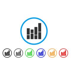 bar chart rounded icon vector image vector image
