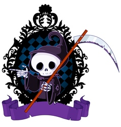 Cartoon Grim Reaper Pointing vector image