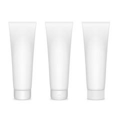Cream tubes vector image vector image