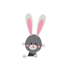 cute easter bunny happy adorable vector image