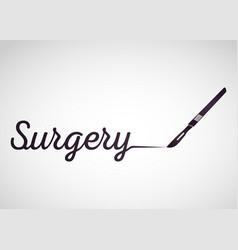 surgery medical logo icon design vector image