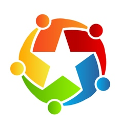 Team Star logo vector image