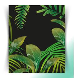tropical leaf pattern poster vector image vector image