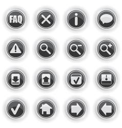 Web symbol icons vector image vector image