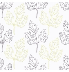 Hand drawn lovage branch wirh flowers stylized vector image