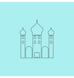 Mosque icon on background vector image vector image