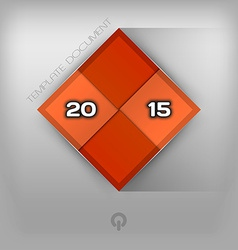 215 Red Squares vector image