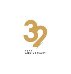 32 year anniversary logo template design vector