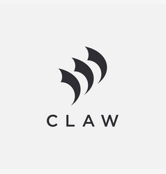 Abstract minimalist claw logo icon template vector