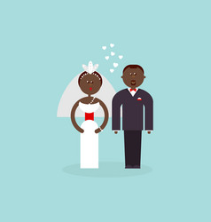 african american bride and groom vector image