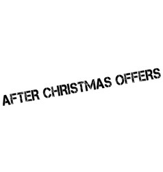 After Christmas Offers rubber stamp vector