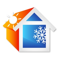Air conditioning for home vector image