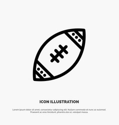 american ball football nfl rugline icon vector image