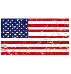 american flag isolated white background vector image