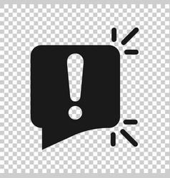 Attention sign icon in transparent style warning vector